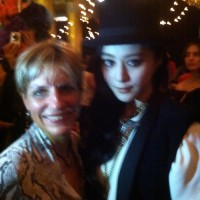 Adrienne & Fan Bing Bing at the Lanvin Party